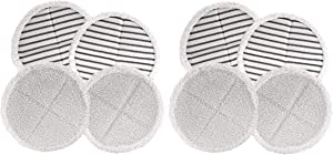 Bissell Spinwave Mop Pad Kit Replacement Pads 4 Soft/4 Scrubby Pads Bundle