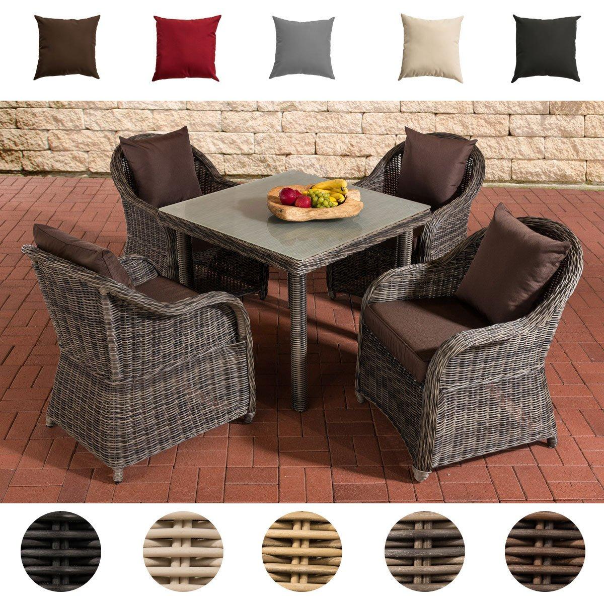 clp poly rattan garten sitzgruppe san juan xl tischplatte milchglas 4 garten sessel. Black Bedroom Furniture Sets. Home Design Ideas