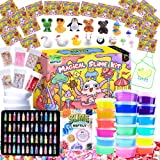 HSFTILV DIY Slime kit Supplies-2 Cloud Slime 8 Clear Slime 8 Butter Slime 2 Jelly Cube 48Glitter 4 Magic Clay with DIY…