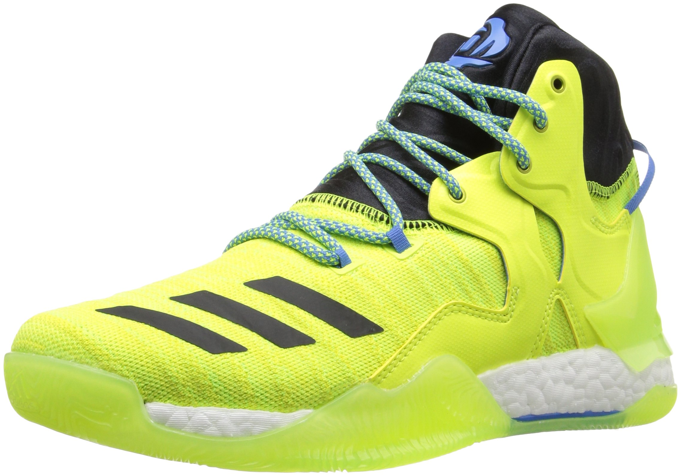 535b55c921ac Galleon - Adidas Men s D Rose 7 Primeknit Basketball Shoe Solar Yellow Black  Ray Blue Fabric 10 M US