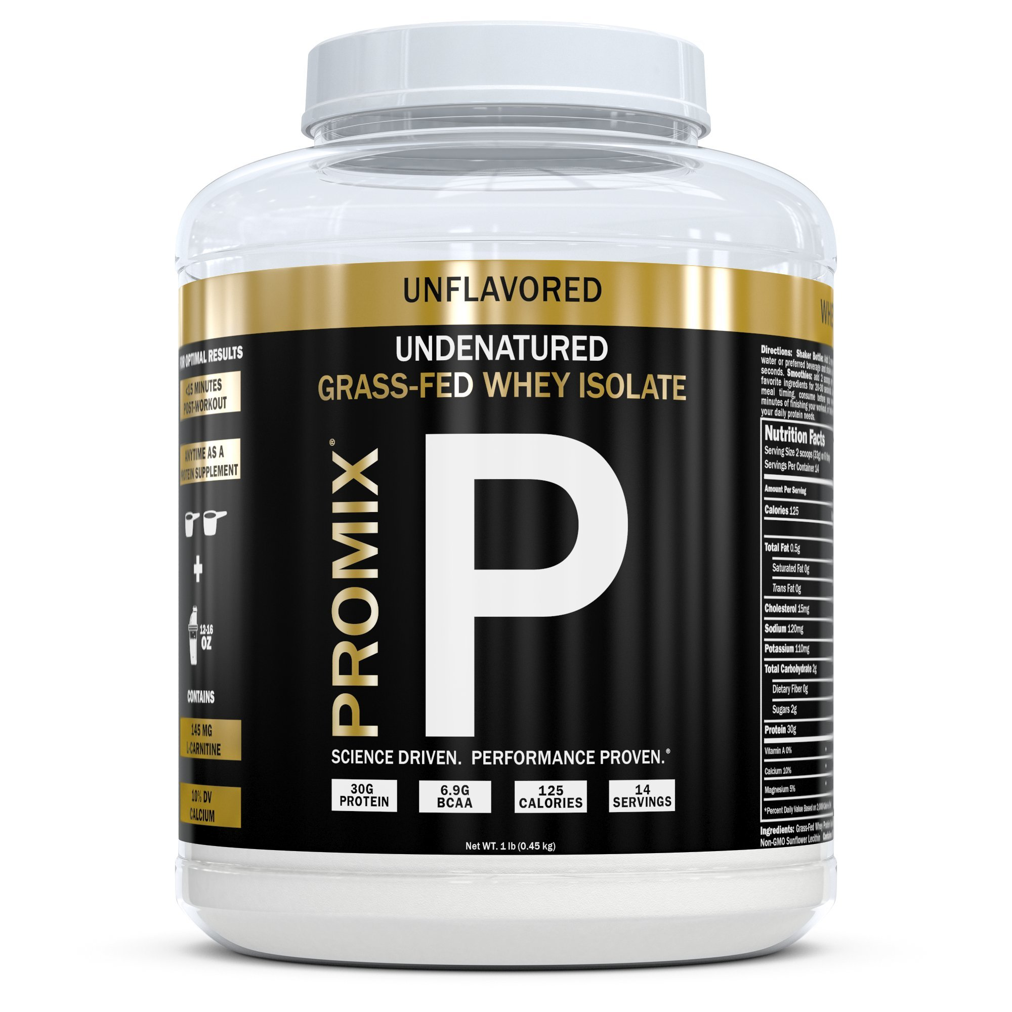 ProMix Nutrition Grass Fed Whey Isolate, 1 Pounds