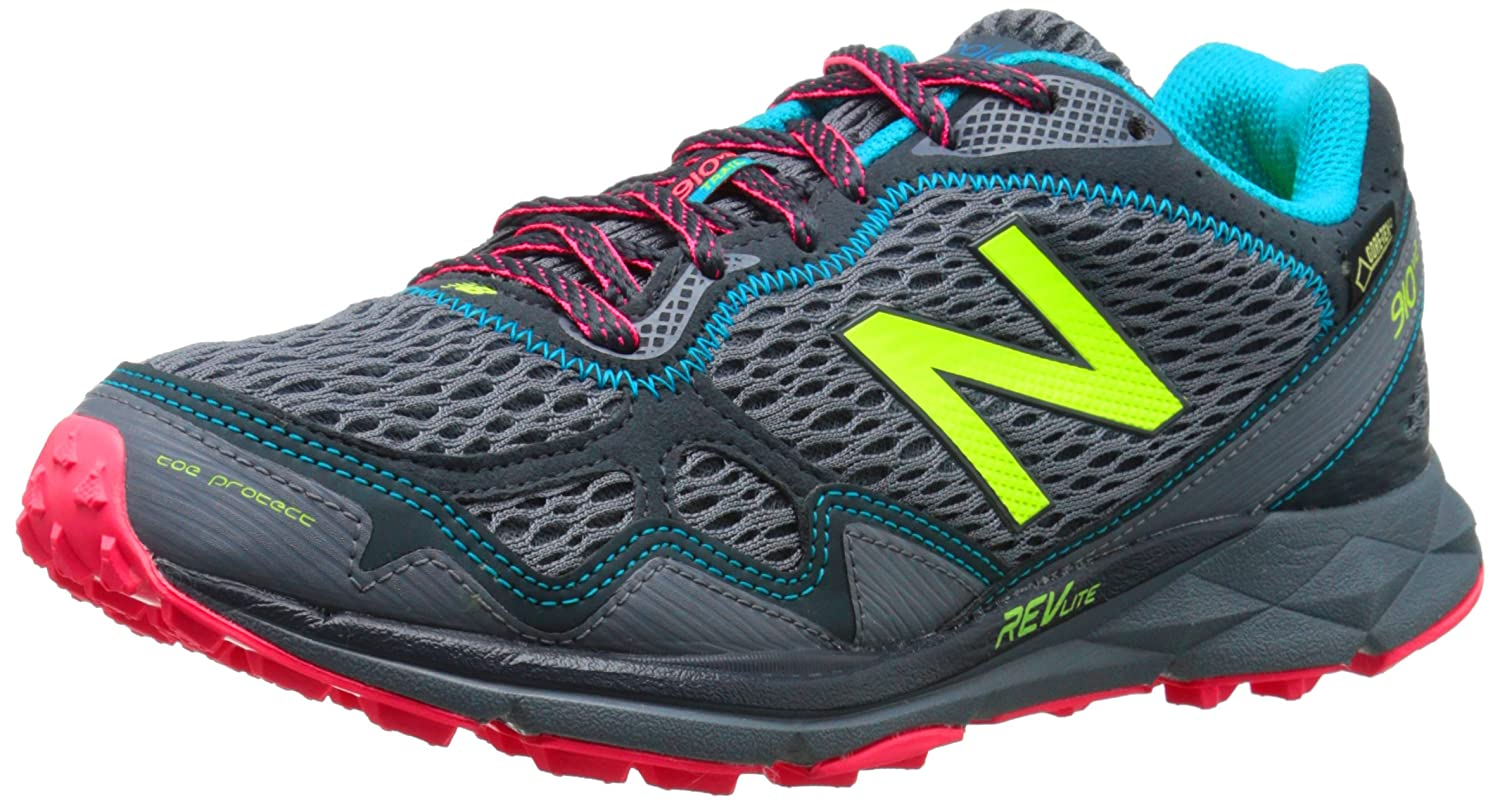 New Balance Women's WT910V2 Trail Running Shoe B00V3NA8JQ 5.5 D US|Grey/Pink