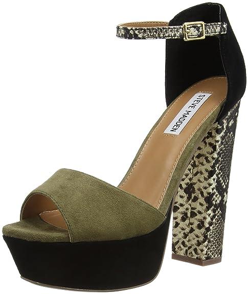 Steve Madden MYRAA - Zapatos para Mujer, Color Verde/Negro, Talla 38: Amazon.es: Zapatos y complementos