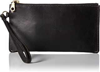 product image for Circa Leathergoods Women's Handcrafted Italian Leather Zip Wristlet