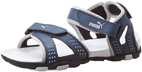 6a3181399bfe Puma Men s Marcus II DP Insignia Blue and White Rubber Athletic   Outdoor  Sandals - 10UK