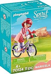 PLAYMOBIL- Maricela con Bicicleta Juguete, Multicolor (geobra ...