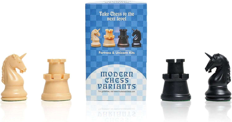 Fortaleza y Unicornio (Fortress and Unicorn), Ajedrez de Mosquetero (Musketeer Chess), 4 Piezas de ajedrez: Amazon.es: Juguetes y juegos