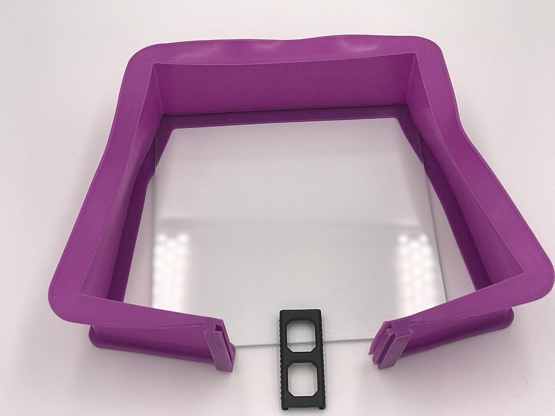 Berger Silicona Spring Forma Cuadrada con Base de Cristal 23/x 23/cm,/ /Molde Cuadrado