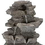 Tabletop Water Fountain with Cascading Rock
