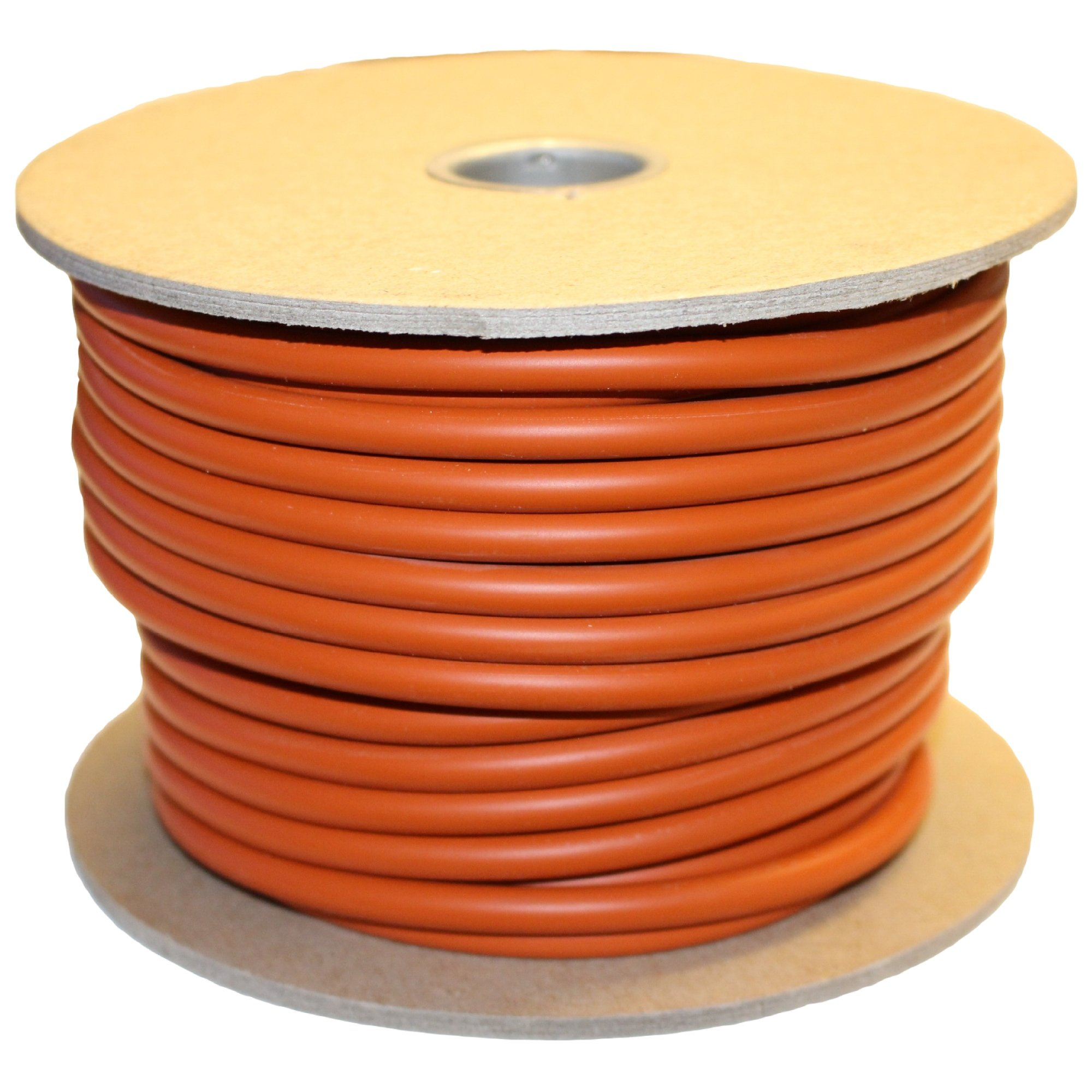 .063'' (1/16'' Actual) Silicone O-Ring Cord Stock, 70A Durometer, 0.063'' Thickness, 100' Spool, Red