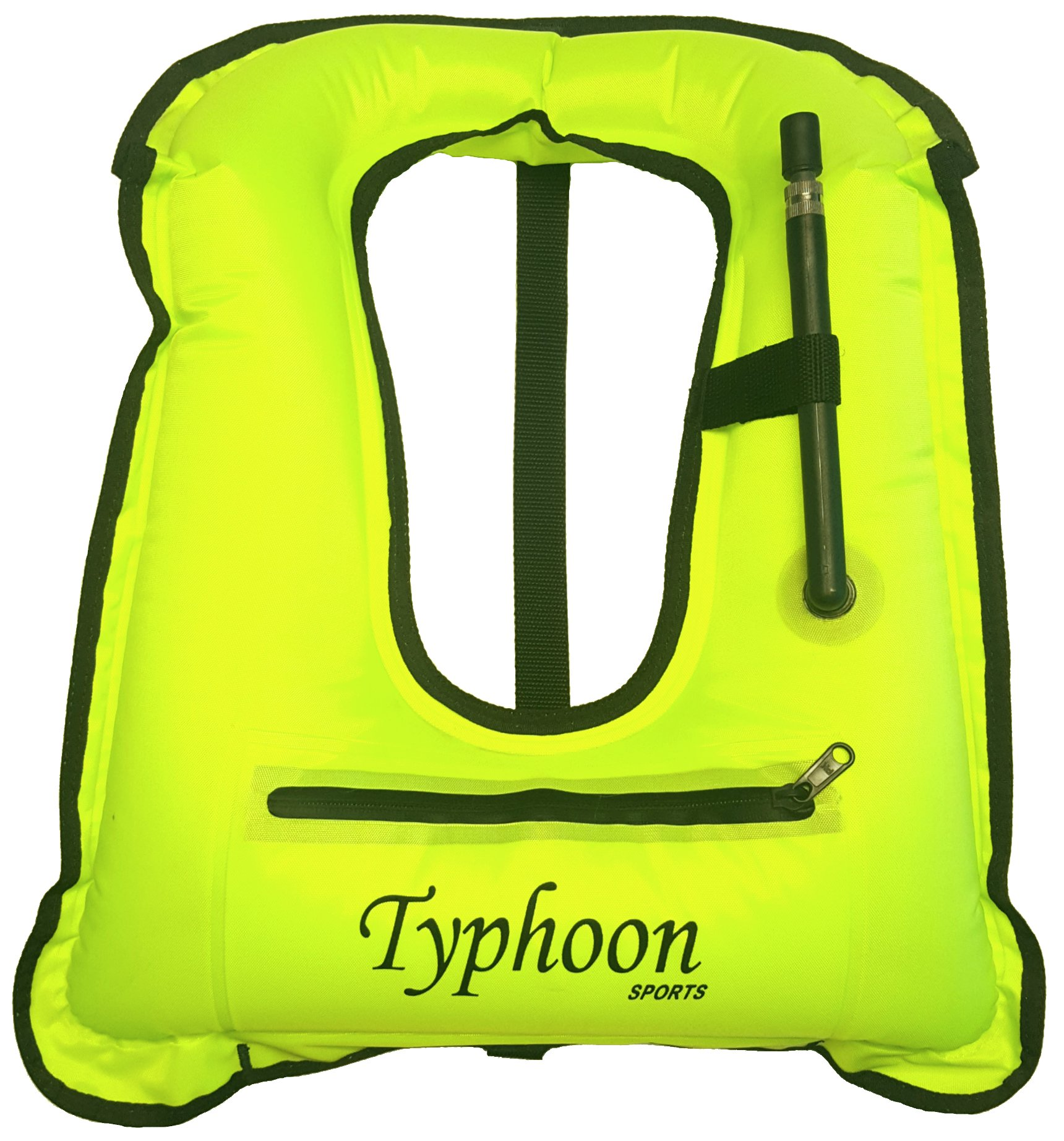 Typhoon Sports Inflatable Snorkel Vest Safety Jacket Horseshoe Design Swimming Diving (Adult, Youth 80-100 lbs) by Typhoon Sports