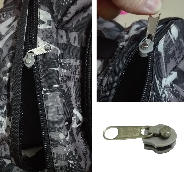 Universal Zipper Repair Kit Fix a Zipper Metal Zipper Fix any Broken Zipper in Seconds No Sewing Needed One Pack 3 PCS