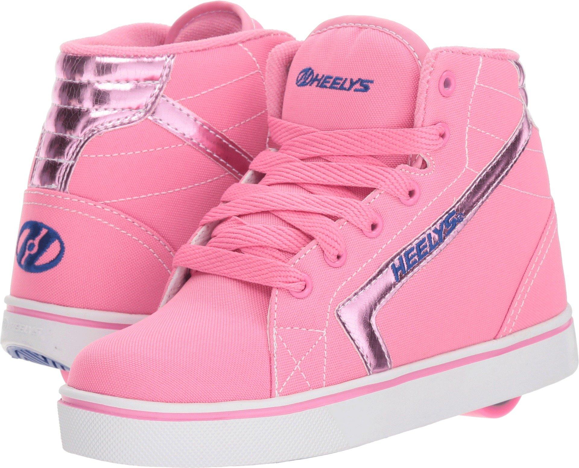 Heelys Girl's GR8R Hi (Little Kid/Big Kid/Adult) Light Pink/Pink Hologram/Blue 7 M US M