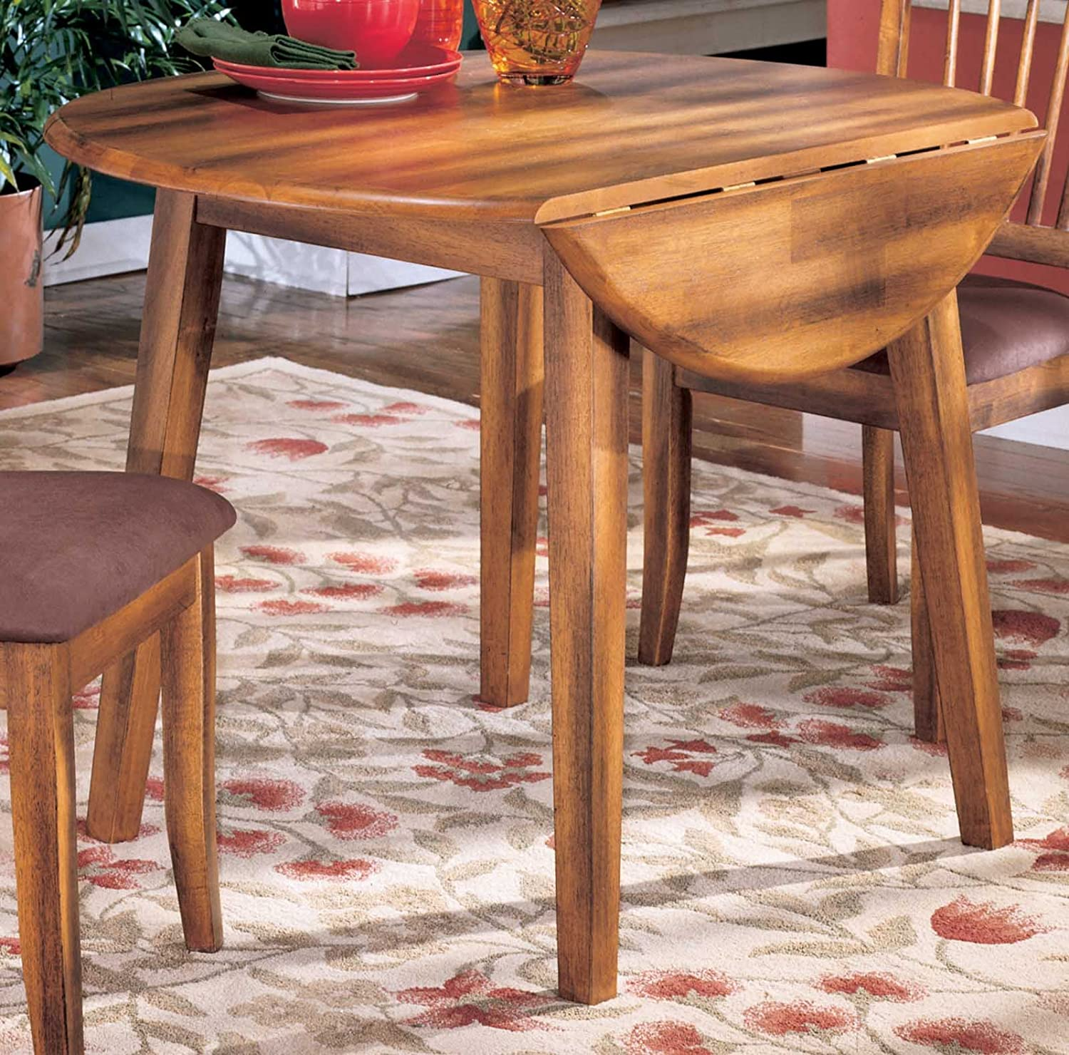 cottage style hickory stain berringer dining room