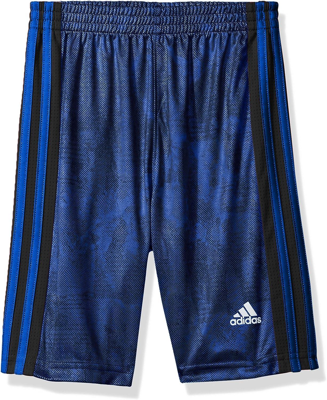 Large 14//16 Black//White Adidas Boys Athletic Shorts