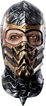 Máscara de látex Scorpion. Mortal Kombat: Amazon.es: Juguetes y juegos