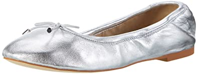 Buffalo London 216-6219 Nappa Leather, Ballerines Femme, Argent (Silver), 37 EU