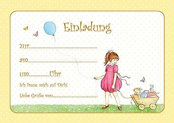 Erhältlich Im 1er 4er 8er Set: Niedliche Kinder Geburtstags Einladungskarte  U0026quot;Zum Selber Schreibenu0026quot