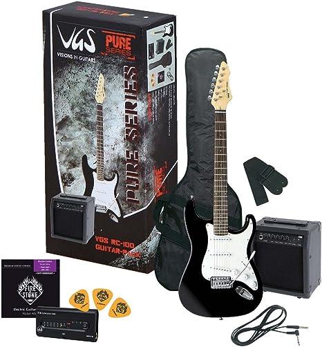 PACK DE GUITARRA ELECTRICA - VGS PURE SERIES RC-100Â BASS PACK BLACK 9401: Amazon.es: Instrumentos musicales