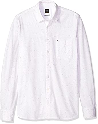 1153cec00 Amazon.com: Hugo Boss Men's Cattitutde_1 Woven Shirt with Fantasy Print:  Clothing