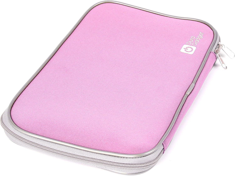 DURAGADGET Pink Travel Water Resistant Neoprene Laptop Cover with Dual Zips for Medion Akoya P6631, Schenker XMG P501 PRO Notebook & MeeNee MNB737
