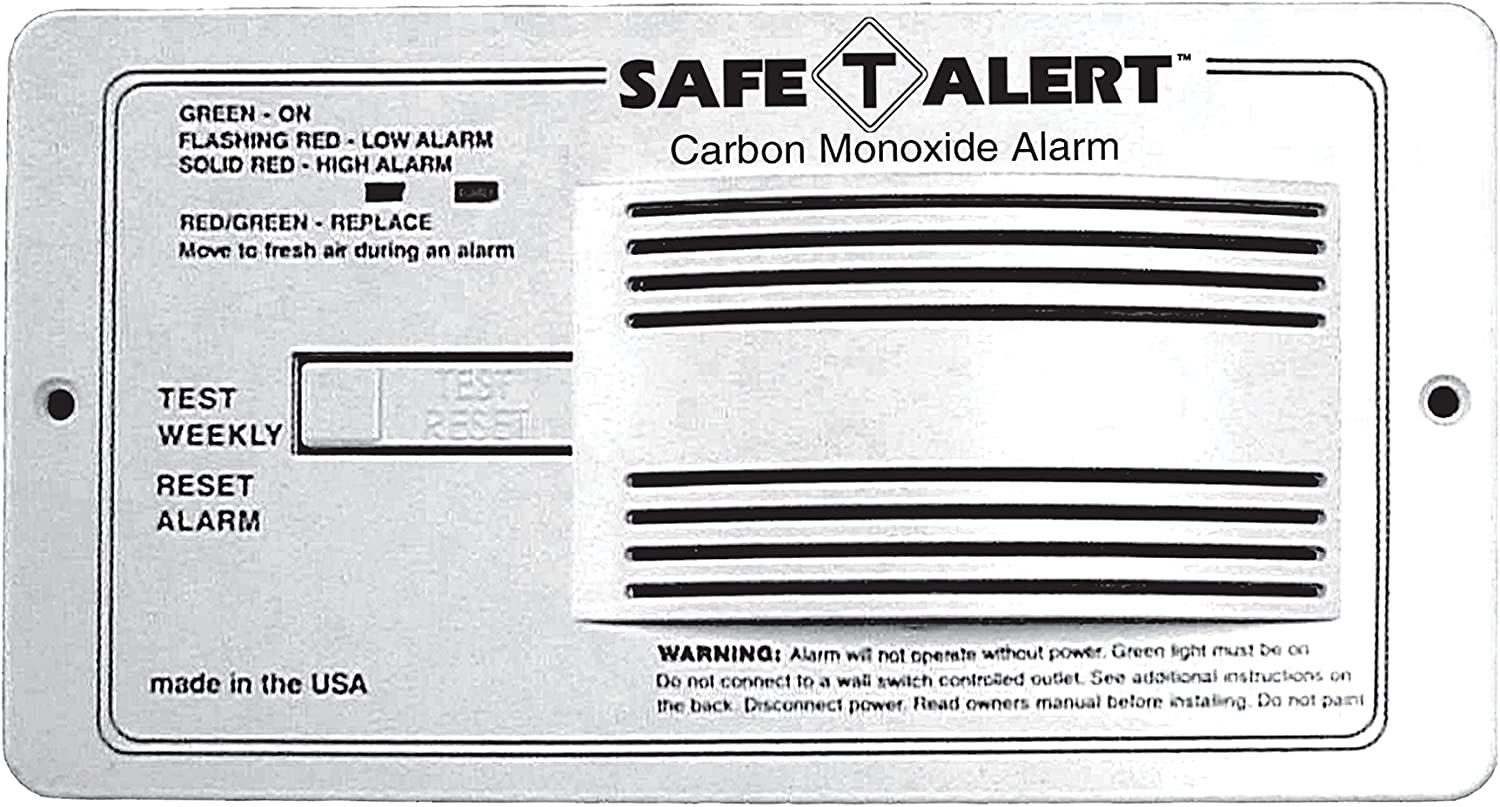 Amazon Com Safe T Alert 65 542 Wt Classic Carbon Monoxide Alarm 12v 65 Series Flush Mount White Automotive