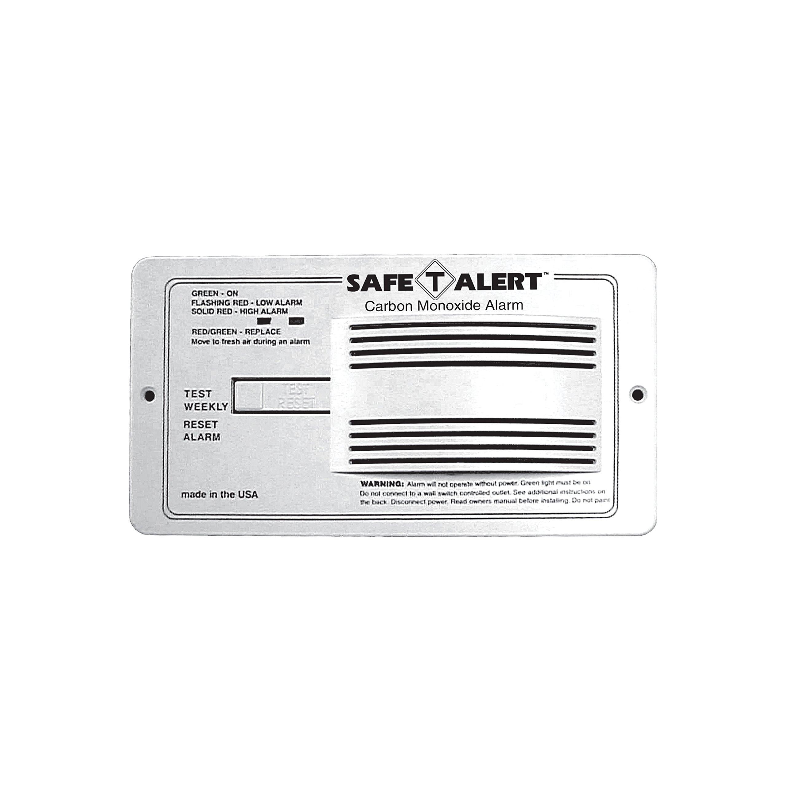 MTI Industries 65-542-P-WT Safe T Alert Carbon Monoxide Alarm - Flush Mount, White by MTI