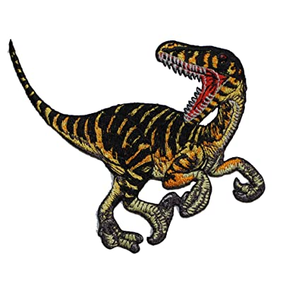 C&D Visionary Application Striped Velociraptor Patch: Toys & Games