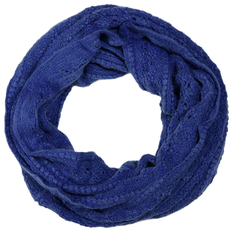 con punto a rombi e costine incrociata 01018104 styleBREAKER sciarpa ad anello in maglia traforata