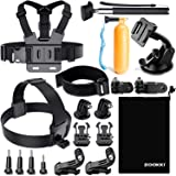 Zookki Accessories Kit for Gopro Hero 7 6 5 4 3, Action Camera Accessories for Xiaomi Yi 4K/WiMiUS/Lightdow/DBPOWER…