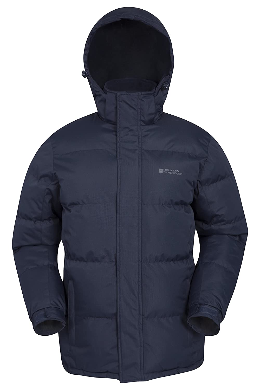 Mountain Warehouse Snow Mens Jacket - Water Resistant Rain Coat