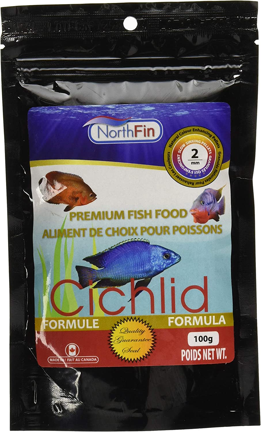 Northfin Food Cichlid Formula 2Mm Pellet 100 Gram Package