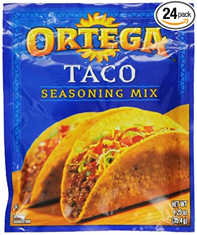 Amazon Com Ortega Taco Seasoning Mix 1 25 Ounce Packages Pack Of 24 Mexican Seasoning Grocery Gourmet Food