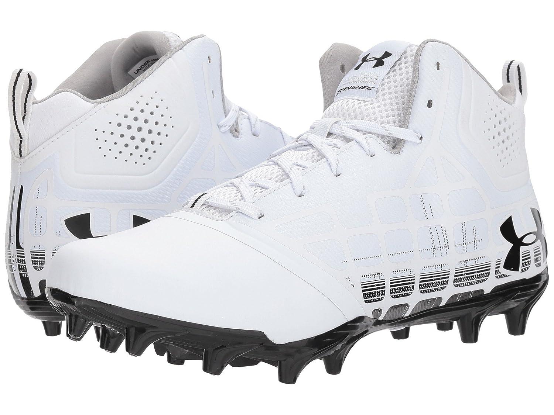 (アンダーアーマー) UNDER ARMOUR メンズフットボールアメフトシューズ靴 UA Banshee Ripshot Mid MC White/Black 12 (30cm) D - Medium B07BZXDMR2