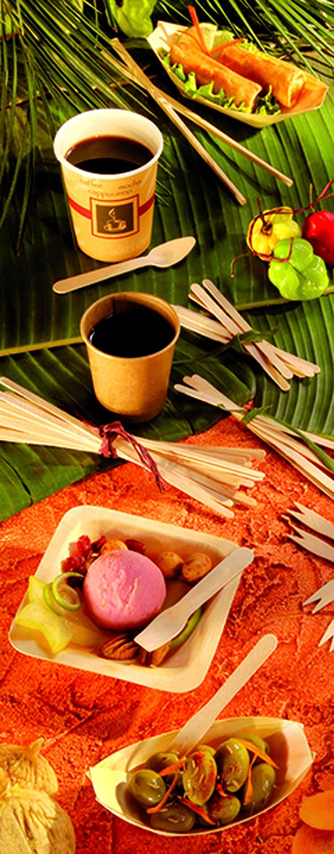 PacknWood Wooden Coffee Stirrers Case of 1000 PK210SPATB14 5.5 Biodegradable Wood Beverage and Drink Stir Sticks