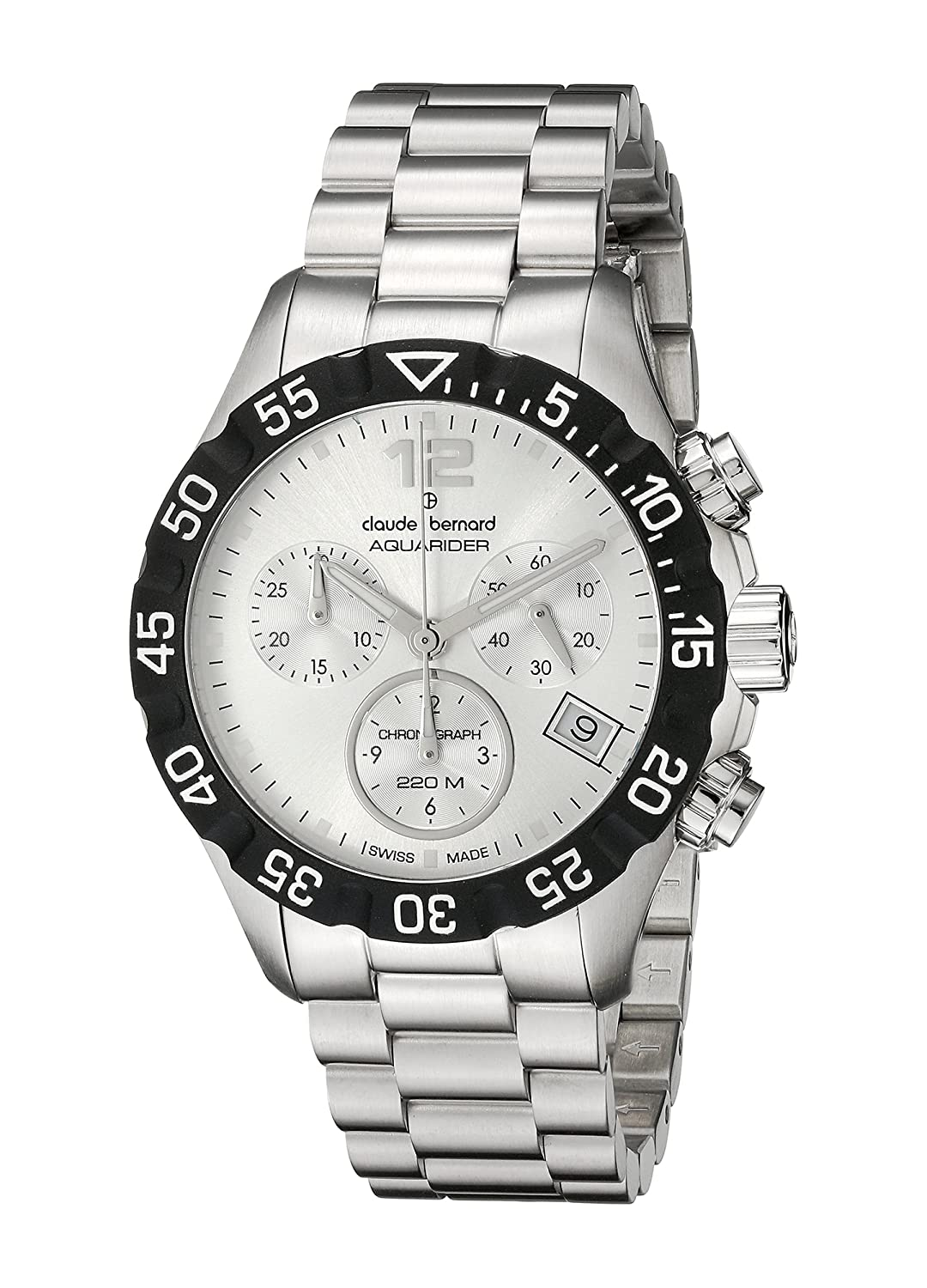 Claude Bernard Aquarider Chronograph 36mm Damenuhr 10210 3 AIN