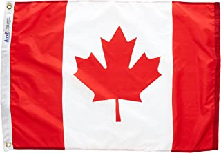 product image for Annin Flagmakers Model 191334 Canada Flag Nylon SolarGuard NYL-Glo, 2x3 ft, 100% Made in USA to Official United Nations Design Specifications