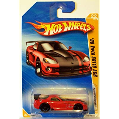 Hot Wheels 2010-22 New Models Red '08 Viper SRT10 ACR 1:64 Scale: Toys & Games