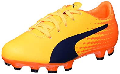 Puma Unisex-Kinder Evospeed 17.5 TT Jr Fußballschuhe, Gelb (Ultra Yellow-Peacoat-Orange Clown Fish 03), 38 EU