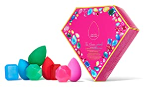 Beautyblender The Crown Jewels Blender Essentials Limited Edition Kit With 4 Makeup Blenders For Blending Liquid Foundations, Powders & Creams, 4 Cleansers, Vegan and Cruelty Free, Made In The USA