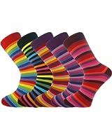 Mysocks Lot de 5 paires de chaussettes rayées pour homme Taille 40-45