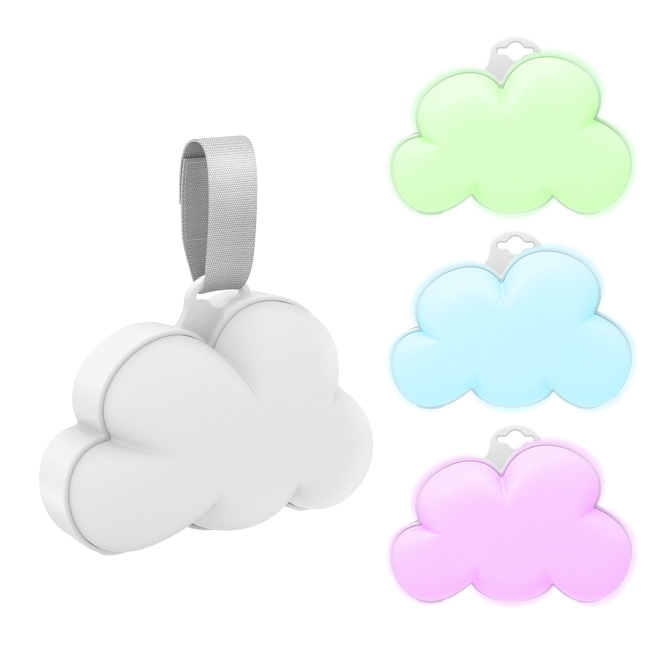 Baby Cloud Portable Sound Machine & Color-Changing Night Light – Plays 15 Soothing Sounds Including 5 Nature Sounds and 10 Lullabies to Create a Relaxing Ambiance for Your Baby