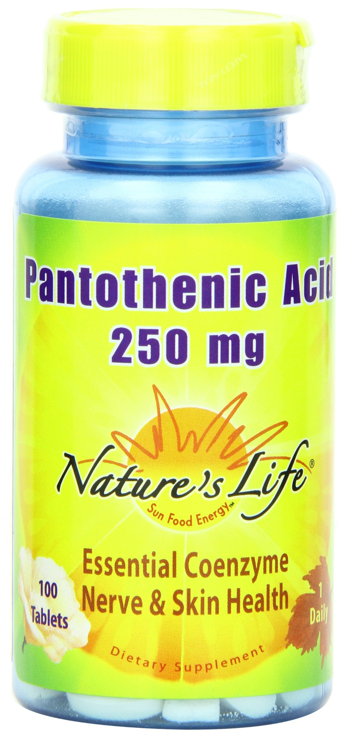 Nature's Life Pantothenic Acid Tablets, 250 Mg, 100 Count (Pack of 2)