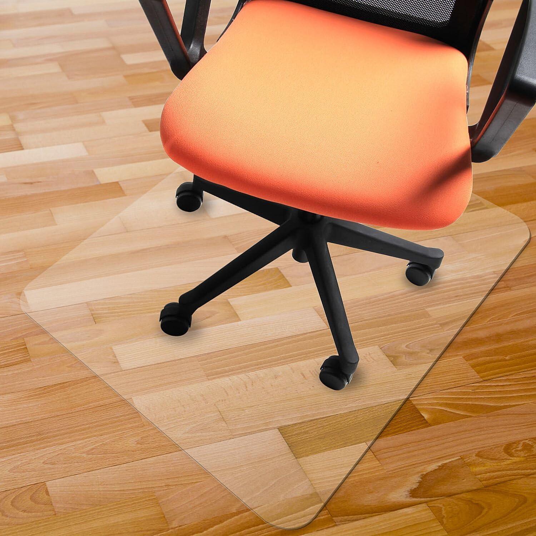"Azadx Chair Mat for Hardwood Floors, PVC Chairmat Protection Floor Mat 48"" X 48"",Multi-Purpose Floor Protector,Transparent (48"" X 48"" Rectangle)"