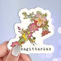Sagittarius Botanical Vinyl Sticker?Waterproof Stickers?Water Bottle Stickers?Car Stickers?Laptop Stickers?Weatherproof…