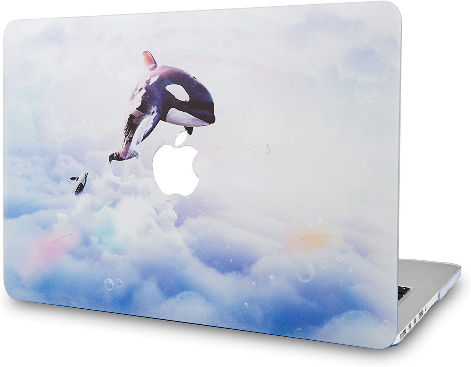LuvCaseLaptopCaseforMacBookAir 13 Inch A1466 / A1369 (No Touch ID)RubberizedPlasticHardShellCover (Dolphin)