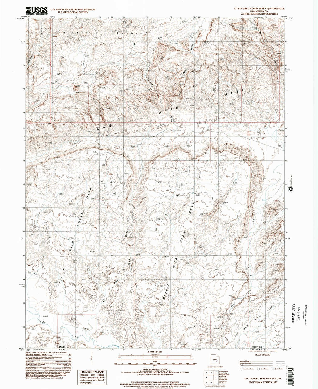 Amazon.com : YellowMaps Little Wild Horse Mesa UT topo map, 1:24000 ...
