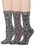 Leotruny Women's Vintage Knit Crew Boot Socks
