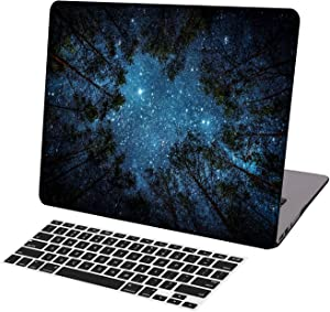 KSK KAISHEK Laptop Case for MacBook Air 13 inch Model A1369/A466,Plastic Ultra Slim Light Hard Shell + Keyboard Cover Compatible MacBook Air 13 Inch No Touch ID,Woods and Starry
