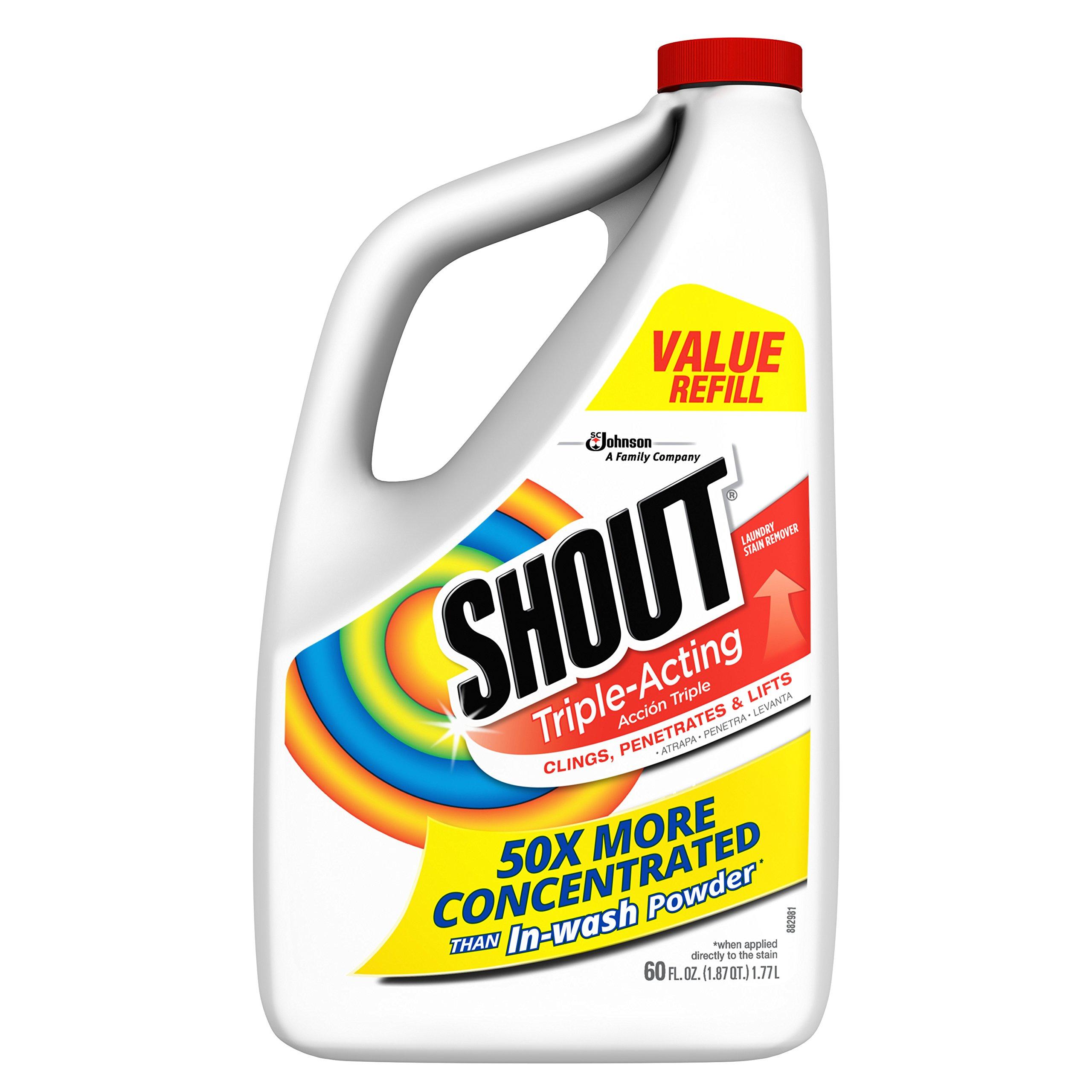Shout Triple-Acting Liquid Refill 60 fl oz. (Pack of 6)